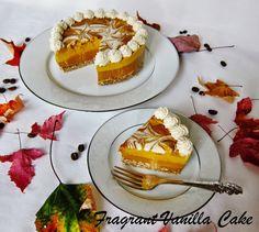 Raw Spiced Pumpkin Mocha Latte Cheesecake | Fragrant Vanilla Cake