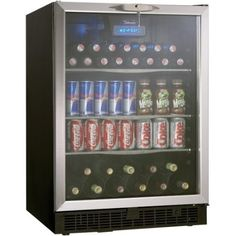 Amazon.com: Danby DBC514BLS 5.3 Cu. Ft. Silhouette Beverage Center - Black/Stainless: Appliances