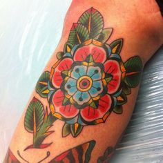 Old school flower tattoo