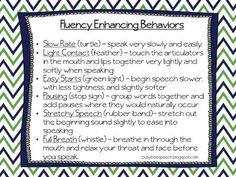 Fluency Enhancing Behaviors Freebie!
