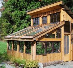 Greenhouse with recycled windows