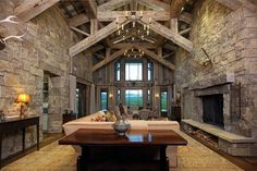 Western design and materials used to craft this Three Creek estate in Montana