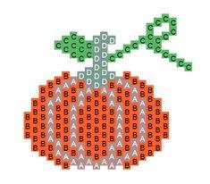 Citrouille Brick Stitch en perles Miyuki par MamZelle Lulu diagramme