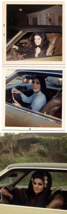 Priscilla Presley... These photos of her remind me so much of Lana Del Ray! Beautiful!