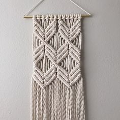 Macrame Patterns/Macrame Pattern/ Macrame Wall by ReformFibers