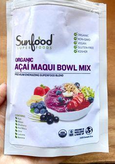 Sunfood Organic Acai Maqui Bowl Mix