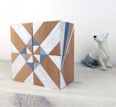 Geometric Art Blocks from Uncovet Clever Design, Diy Design, Box Art, Art Boxes, Wood Book, Art Furniture, Geometric Art, Medium Art, Art Inspo