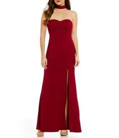 e2b96b9cfe6 Sequin Hearts Choker-Neck Crepe Dress