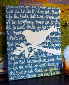 Bible verse canvas painting | *cute