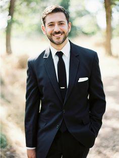 Classic black and white groom look. #groom #groomattire #weddingchicks Captured By: Erich McVey Photography ---> http://www.weddingchicks.com/2014/04/24/the-gordon-house/