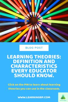 Did you know there are different learning theories you can use in your classroom? This blog presents 9 learning theories every teacher should know with their definition and characteristics. If you want to learn more about them click on the pin! #meaningfullearning #learningtheories #cognitivetheories #learning #behaviorism #constructivism #sociallearning #learningbydiscovery #multipleintelligences #learningcharacteristics #educationalpsychology #socioconstructivism #theory #blogpost Learning Skills, Learning Theory, Skills To Learn, Learning Process, Educational Theories, Educational Psychology, Multiple Intelligences, Constructivism, Teachers