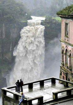 The Hotel del Salto, Tequendama Falls, Bogotá River, Colombia. The Marshall Center has 37 from Colombia as of April Places Around The World, Oh The Places You'll Go, Places To Travel, Places To Visit, Around The Worlds, Magic Places, Les Cascades, Future Travel, Adventure Is Out There