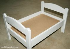 How to paint an IKEA Duktig doll's bed. Wish I had found this post before I tried it on my own!