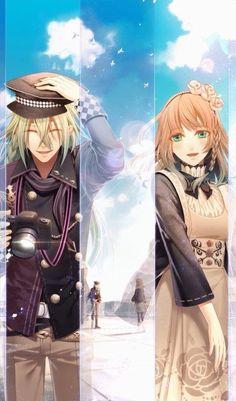 Ukyo x Heroine- Amnesia Amnesia Anime, Amnesia Otome Game, Manga Couples, Amnesia Memories, Ao Haru, Kamigami No Asobi, Animes To Watch, Pokemon, Another Anime