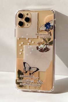 Aesthetic Abstract Butterfly Collage Clippings Clear Phone | Etsy