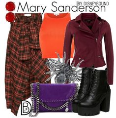 DisneyBound is meant to be inspiration for you to pull together your own outfits. Mary Sanderson Costume, Modern Outfits, Cute Outfits, Movie Outfits, Teen Fashion, Fashion Outfits, Disney Fashion, Disneybound Outfits, Sister Costumes