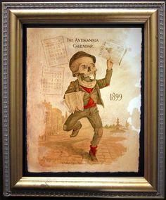 Antikamnia Calendar Skeleton Illustration by TeaStainedMadness, $14.99