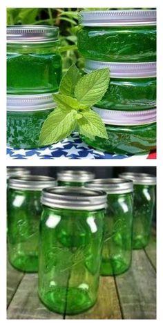 Варенье из мяты — невозможно описать этот сногсшибательный вкус и аромат! Pickles, Cucumber, Mason Jars, Food And Drink, Sweets, Drinks, Cooking, How To Make, Inspiration