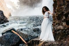 pacific northwest waterfall elopement