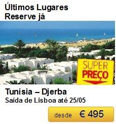 Tunísia - Djerba Só até 25/05 €495