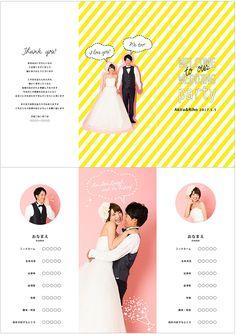 """結婚式に大活躍♡前撮りウェディングフォトを使ってオリジナルのプロフィールパンフレットが簡単にできちゃいます!!""""BrackParty""""デザインは豊富な10種類★☆ http://www.studio-palette.com/lafiler_info/bridal_lafiler/26404.html #weddingphoto #party #wedding #profile"""