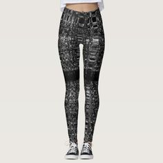Abstract chain pattern leggings