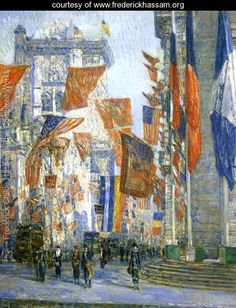 Avenue of the Allies I - Frederick Childe Hassam -