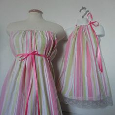 Mommy and Me Matching Eco Fashion. Mother Daughter Clothing. Mommy and Me Matching. Easter Dresses. Matching Easter Dresses. Pink Dresses.