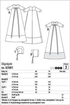 Dåpskjole - 83001 - Stoff & Stil