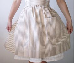 striped Apron, I love aprons! Has that vintage classic look to it.