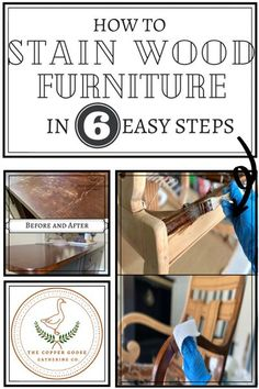Staining furniture may be intimidating at first. In this article, I've outlined how to stain wood furniture and have provided some extra tips so you can feel confident with your next furniture staining project! Upcycled Home Decor, Diy Home Decor Projects, Furniture Makeover, Painted Furniture, Stain Wood, Painted Vanity, Farm House Colors, Furniture Restoration, Confident