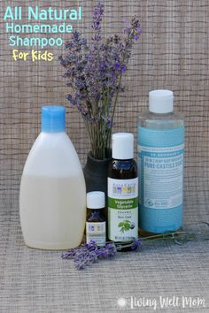 This simple All Natural Homemade Shampoo for Kids is surprisingly easy to make and a real bargain too! Check out the simple DIY instructions here: - Shampoo - Ideas of Shampoo Diy Savon, Diy Shampoo, Castile Soap Shampoo, Homemade Shampoo And Conditioner, Unscented Shampoo, How To Make Shampoo, Homemade Shampoo Recipes, Homemade Toothpaste, Homemade Facials