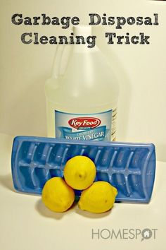 You might already know that ice sharpens the blades in your garbage disposal, and that throwing a lemon in there freshens and cleans it up. ...