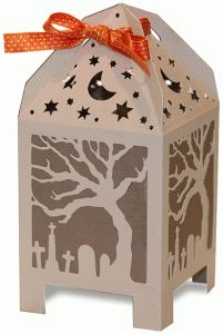 Halloween treat box from the Silhouette Online Store!  -Samantha Walker