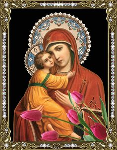 Un blog cu gif-uri: Gif-uri icoane Icon Gif, I Love You Mother, Queen Of Heaven, Blessed Mother Mary, Mary And Jesus, Architecture Art Design, Madonna And Child, Guardian Angels, Holy Family