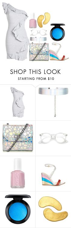 """metalics"" by tori-bourret ❤ liked on Polyvore featuring Dsquared2, Accessorize, Essie, Chloé, MAC Cosmetics and MZ Skin"