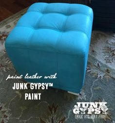 Paint leather with Junk Gypsy™ Paint. Chalk Paint Chairs, Painted Chairs, Painted Furniture, Paint Leather, Clay Paint, Gypsy Life, Annie Sloan Chalk Paint, Country Chic, Vintage Furniture