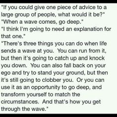 Ride the wave...change direction