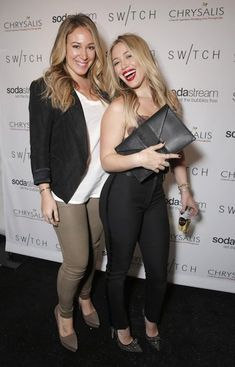 Haylie Duff and sister Hilary Duff (Right)...
