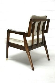 Vintage 60s Danish Mid Century Modern Lounge Chair Walnut Denmark