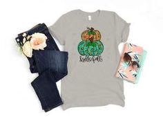 Stacked Cheetah Pumpkins Hello Fall Shirt