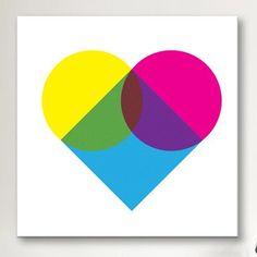 iCanvas Modern Fluorescent Heart Diagram Canvas Art Size: H x W x D Heart Diagram, Painting Prints, Canvas Prints, Framed Art Sets, Gold Map, Textured Canvas Art, World Map Canvas, Dragonfly Art, Personalised Canvas