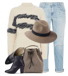 """""""Eleven Thirty Four"""" by monmondefou ❤ liked on Polyvore featuring Current/Elliott, Penmayne of London, Meraki and beige"""