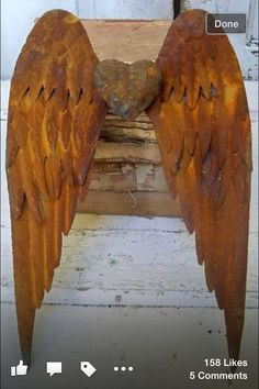 copper angel wings