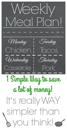 This How-To Guide on Weekly Meal Planning is fantastic! It not only tells you how to get started, but gives lots of great ideas with links to actual recipes!
