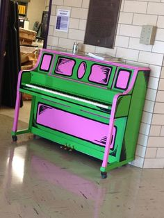 This Dr. Seuss-inspired piano is so much fun! What a wonderful way to liven up a school or community center.