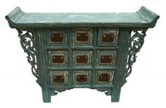 Antique Chinese 9 Drawer Cabinet