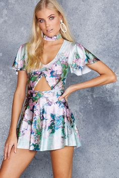 Van Gogh Roses Rio Playsuit - LIMITED ($120AUD) by BlackMilk Clothing
