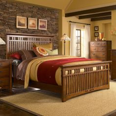 Mission bedroom set by #Broyhill #mission