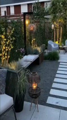 Small Backyard Landscaping, Modern Backyard, Backyard Patio Designs, Patio Ideas, Backyard Ideas, Low Deck Designs, Backyard Seating, Small Backyard Design, Small Patio